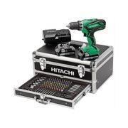 Hitachi-KC18DJLF-Perceuse-visseuse-2-x-18-V-25-Ah-100-Accessoires-0