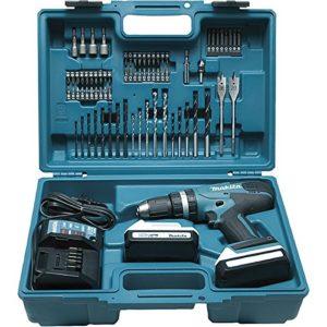 Makita-HP457DWE10-Perceuse-visseuse--percussion-2-x-18-V-13-Ah-Accessoires-0