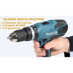 Makita-HP457DWE-Perceuse-visseuse--percussion-2-batteries-18V-13Ah-Li-ion-coffret-de-transport-0