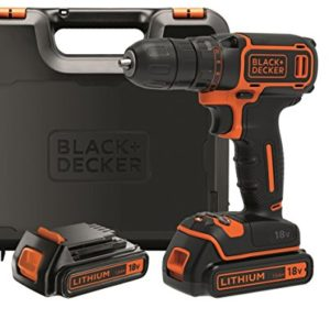 BLACKDECKER-BDCDC18KB-QW-Perceuse-visseuse-sans-fil-18V-30-nm-Lithium-ion-2-batteries-15-Ah-Chargeur-inclus-Livre-en-coffret-0