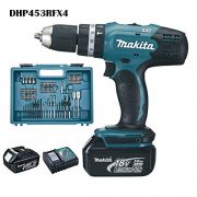 Makita-DHP453RFX4-Perceuse-visseuse--percussion-DHP453Z-2-batteries-18V-3Ah-Li-ion-74-accessoires-coffret-de-transport-0