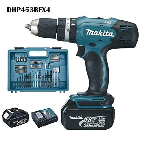 Makita-DHP453RFX4-Perceuse-visseuse–percussion-DHP453Z-2-batteries-18V-3Ah-Li-ion-74-accessoires-coffret-de-transport-0