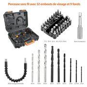 Tacklife-PCD05B-Perceuse-Visseuse-Sans-Fil-18V--2-Vitesses-avec-2-Batteries-Lithium-ion-20-Ah-Charge-Rapide-1h-191-Couples-de-Serrage-Max-30Nm-Mandrin-Mtal-10mm-Accessoires-43pcs-0-0