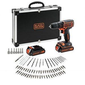BLACKDECKER-BDCDC18BAFC-QW-Perceuse-visseuse-sans-fil-18V-15-Ah-Lithium-30-Nm-0-650-trsmin-1-vitesse-2-batteries-Chargeur-inclus-80-accessoires-Livre-en-malette-0