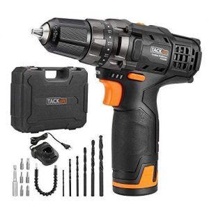Perceuse-Visseuse-Sans-Fil-TACKLIFE-PCD01B-Batterie-Rechargeable-au-Li-ion-12V-2000mAh-Charge-Rapide-1h-Chargeur-100V-240V-Max-Torque-27Nm-191-Rglage-du-Couple-avec-14pcs-Accessoires-0