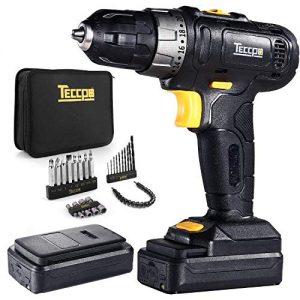 Perceuse-Visseuse-sans-fil-TECCPO-Professional-Perceuse-sans-Fil-27Nm-2-Batteries-20Ah-27-Accessoires-201-Rglages-Peut-percer-le-bois-lacier-2-Vitesses-Rglables-TDCD02P-0