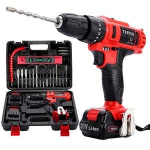 TEENO-Perceuse-visseuse-a-percussion-sans-fil-PSR-21V2-Vitesses-2-batteries-lithium-20-accessoires-gants-professionnels-0
