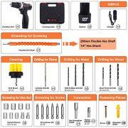 Perceuse-Visseuse-Sans-Fil-GOXAWEE-100Pcs-Kit-Perceuse-Electrique-2-Batteries-Li-ion-12V-1500mAh-Couple-Maxi-30Nm-2-Vitesses-Mandrin-Auto-serrant-10mm-Professionnel-pour-Bricolage-0-0