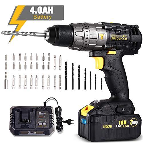 Perceuse-Visseuse-sans-Fil-40Ah-Batterie-29-Pieces-Set-daccessoires-4A-Rapide-Chargeur-Visseuse-a-Percussion–2-Vitesse-Pochette-de-Rangement-0