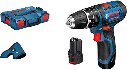 Bosch-Professional-Perceuse-visseuse–percussion-Sans-fil-GSB-12-V-15-Drill-2-batteries-12V-20Ah-Dragonne-L-BOXX-0