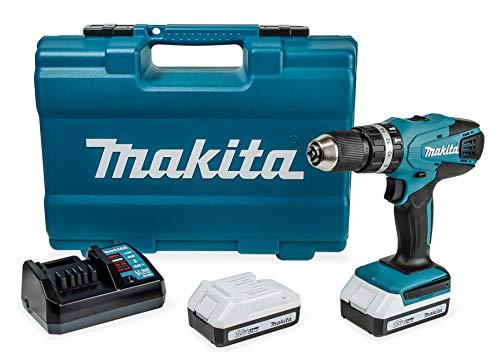 Makita-HP457DWE10-Perceuse-visseuse–percussion-2-x-18-V-15Ah-avec-les-accessoires-0