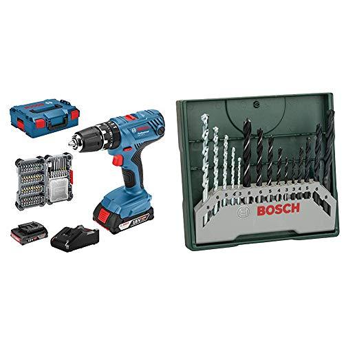 Bosch-Professional-06019H1105-GSB-18-V-21-18V-System-Perceuse-visseuse–Percussion-sans-Fil-avec-Batterie-2×20-Ah-Jeu-dAccessoires-40-Pices-dans-L-BOXX-dition-Amazon-0