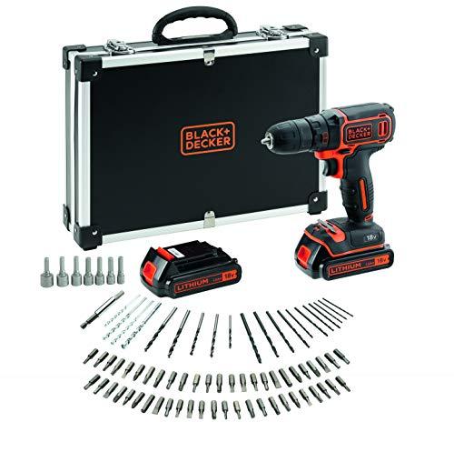 BLACKDECKER-BDCDC18BAFC-QW-Perceuse-visseuse-sans-fil-Chargeur-inclus-80-accessoires-Livre-en-malette-18V-Coffret-2-Batteries-0